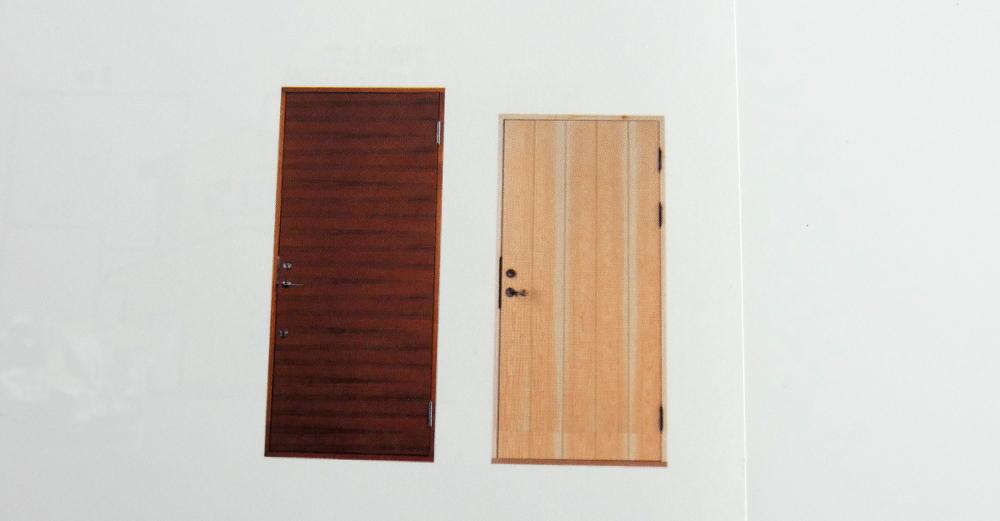 新商品の防火ドアのイメージ写真