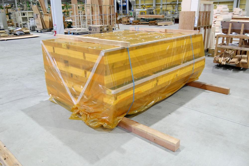 出荷できる状態のプレウォールパネル