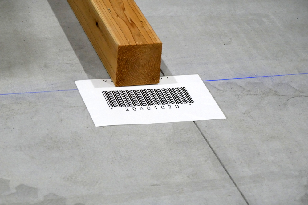 プレウォールパネルを管理するためのバーコード