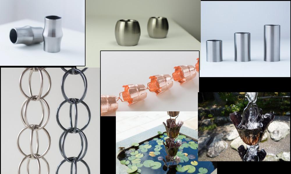 7種類の鎖樋の写真
