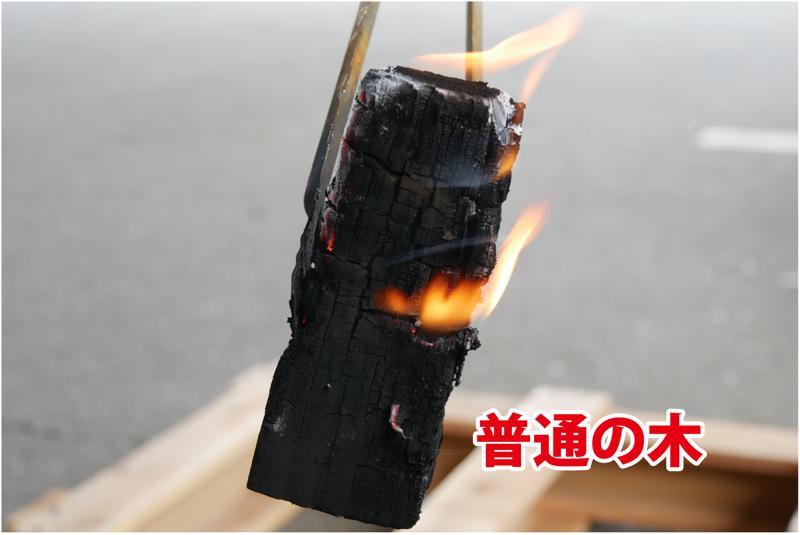 普通の木 火が燃え移っている
