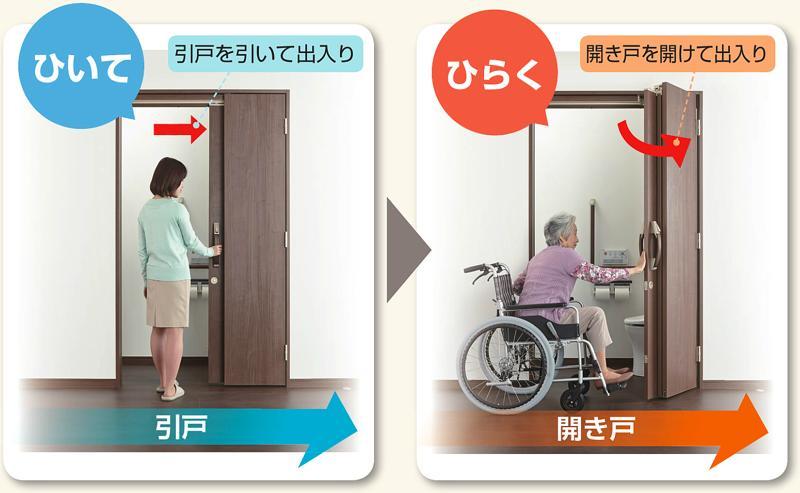 ひきドア 2段階