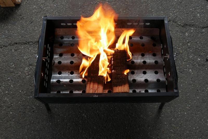 実験 さらに燃やす