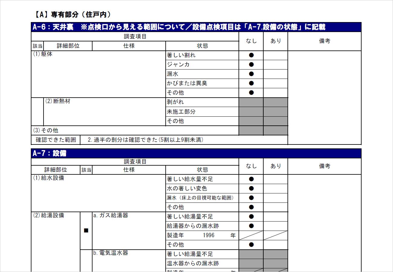「株式会社さくら事務所」の「インスペクション診断報告書」 (1)