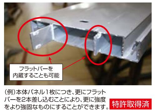 逆勾配庇「アルフィンAD-R」 : フラットバーを内蔵することも可能