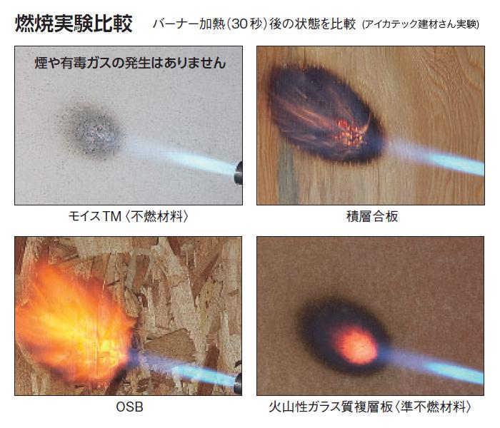 Moiss(モイス) : 燃焼実験比較