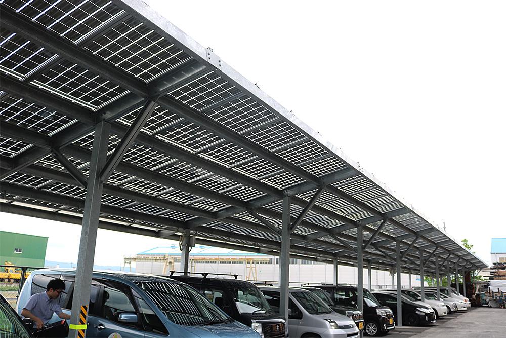 SoR-E : 施工事例 - 株式会社タミヤ製作所-駐車場 (1)