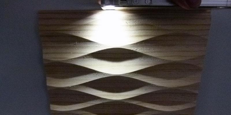 デザインウォールサンプル ライトアップ1