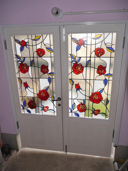 ステンドグラス風装飾ガラス g01の施工例