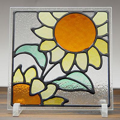 ステンドグラス風装飾ガラス 正方形