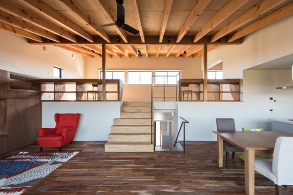 リビング階段の施工例
