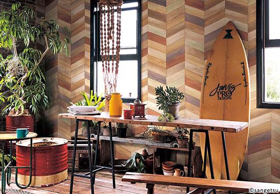 サンゲツの木目調壁紙