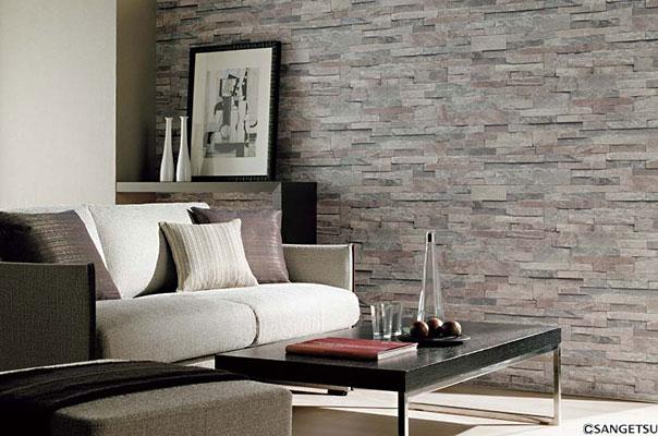 サンゲツの石風壁紙