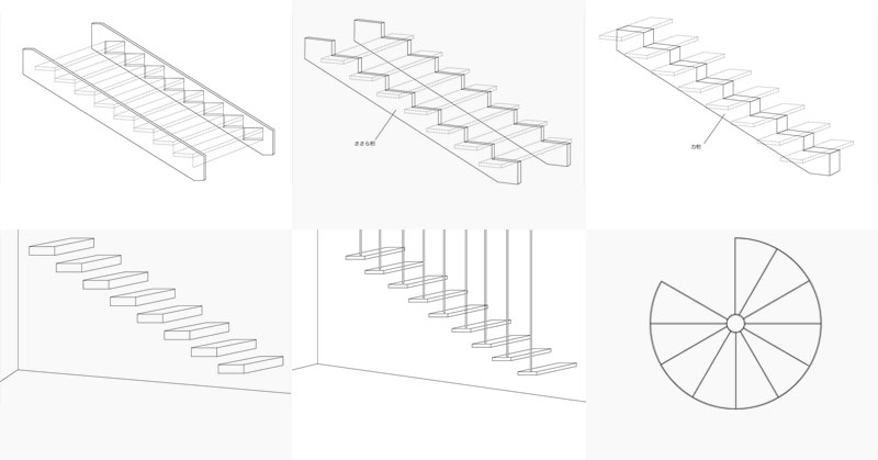 リビング階段がわかる!構造別6種類まとめ