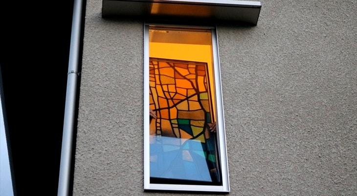 ペアガラスのステンド風装飾グラス