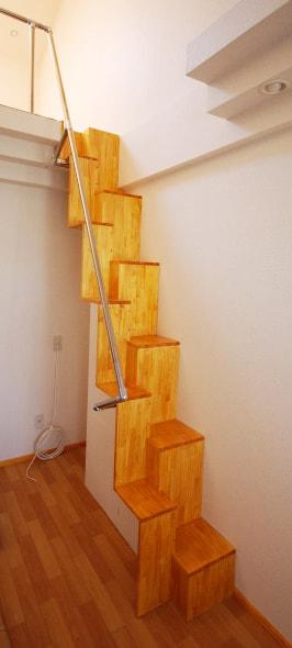 互い違いロフト階段