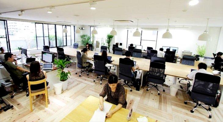 ユカハリタイルのオフィス施工事例