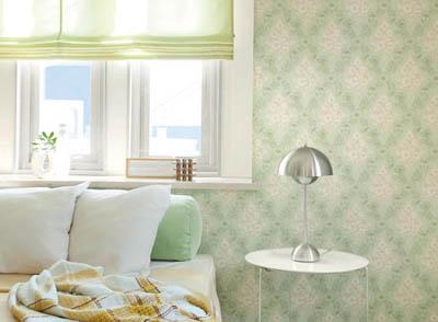 リリカラ緑色の寝室
