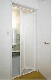 浴室2枚折ドア