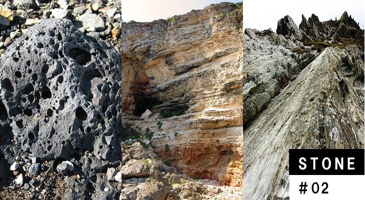 石材となる「石」の種類を特集します。