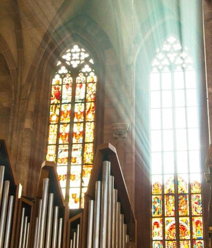 聖ローレンツ教会のステンドグラス