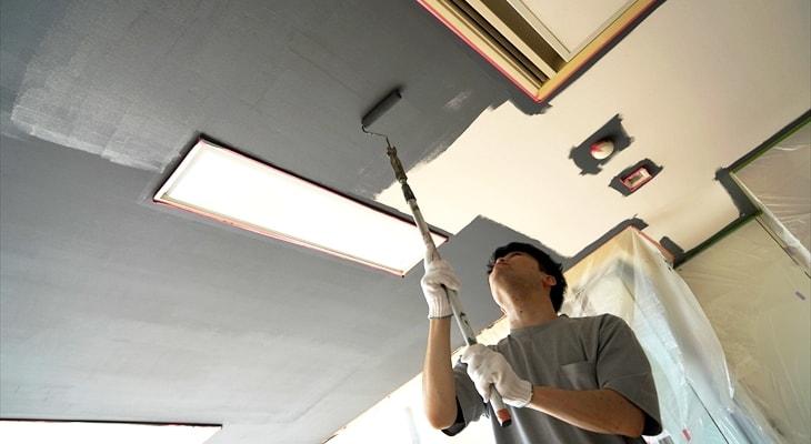 天井にペンキを始めて塗る、初心者DIyer