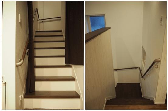 1階から2階に音が筒抜けの階段-min