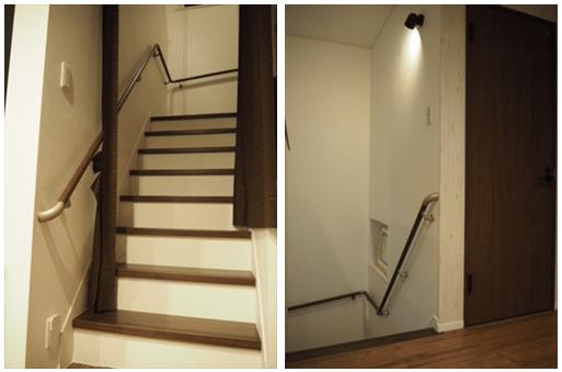 階段上り下り口にドアがない-min