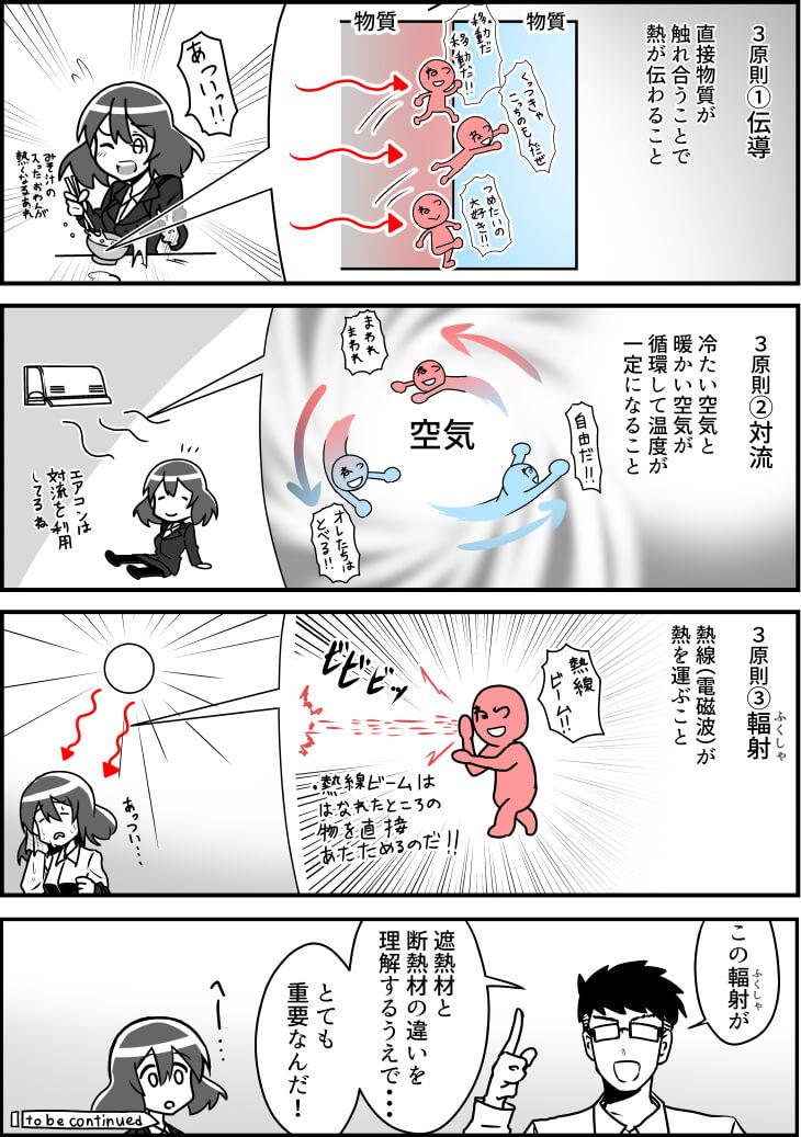 遮熱漫画2話_2(遮熱材と断熱材の違い)