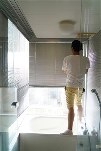浴室ブラインド交換前の浴室