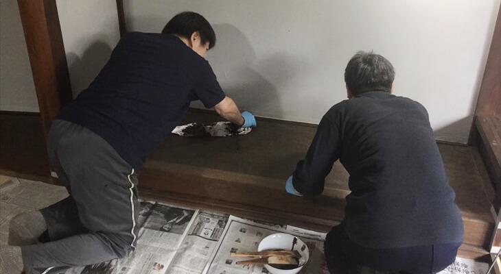 拭き漆(床の間)