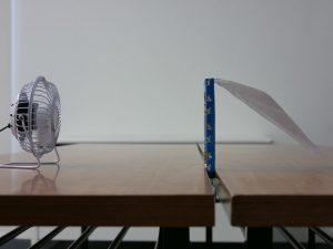 「虫のイヤがる網」の通気性実験