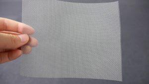 「虫のイヤがる網」の軟らかさ実験 -1