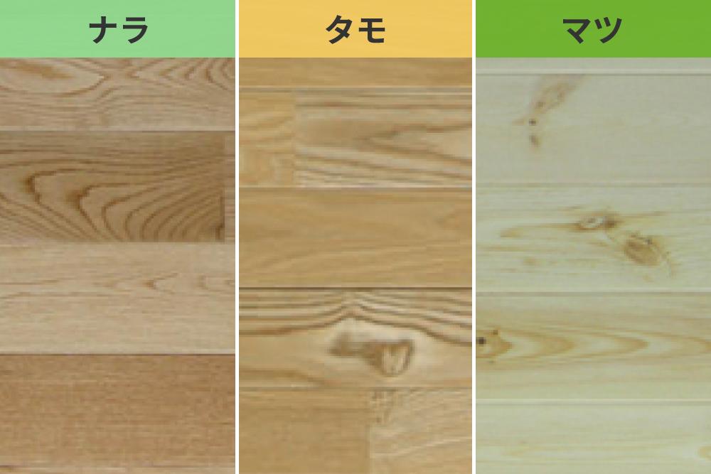 木目の凹凸を活かし、あたたかみを生む。「浮造り工法」におすすめの3つの木材を比較。